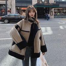 Fur Coat Jackets Lamb Warm Winter Women Thick Fuax Female Loose