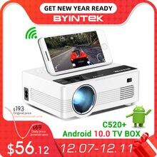 BYINTEK C520 소형 HD 영사기 (선택적인 인조 인간 10 텔레비젼 상자),150 인치 가정 극장, 전화를위한 휴대용 LED Proyector 1080P 3D 4K