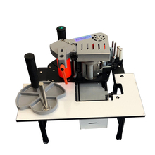 Edge Banding Machine Portable Wood PVC Two-sided Gluing Edge Bander with Tray Cut Adjustable Speed 1200W 1000ml