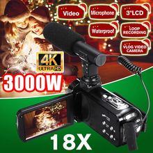 3000W 4K Video camcorder 30MP Live Streaming Vlogging For Youbute Landscape 18X Digital  Night Vision Digital Zoom Camera