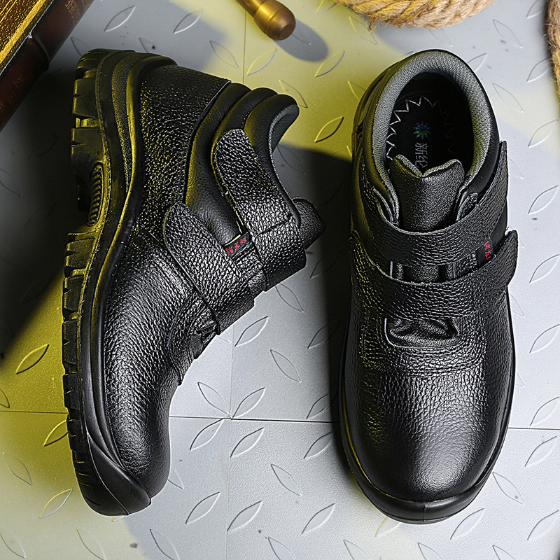 2019 New Style Asphalt Mid-top Cotton-padded Shoes Safety Shoes Men's High-temperature Resistant Anti-Acid Smashing Anti Punctur