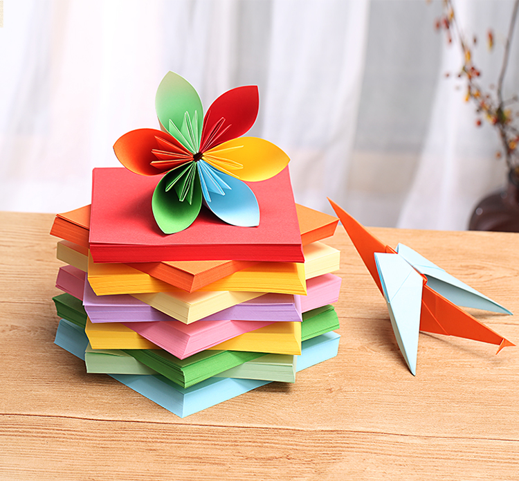 100 X 10 Colors Origami Paper Double Sided Colorful Folding DIY Paper Arts CrEA