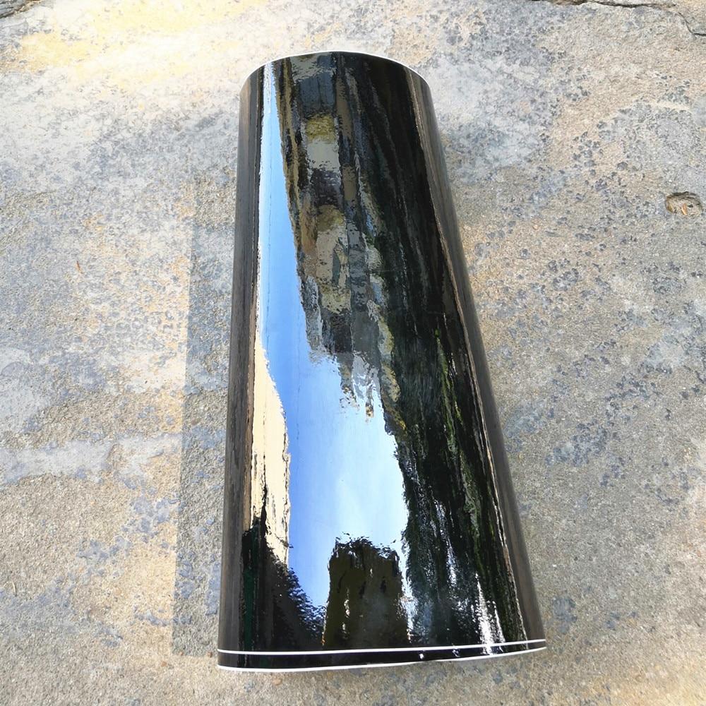 152*10/20/30/40/50 cm preto brilhante filme de vinil gloss brilhante carro envoltório folha adesivo com bolha de ar livre carro da motocicleta envolvimento