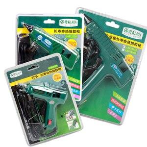 Image 5 - LAOA 25W/60W/100W/150W Hot Melt Kleber Gun Professionelle pistolet eine colle mini Für Metall/Holz Arbeits Stick Papier Haarnadel PU Blume