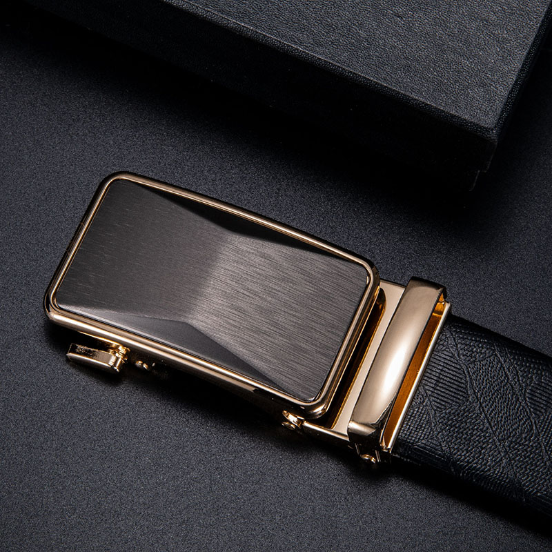 Dropship Fashion Men's Business Alloy Automatic Buckle Unique Men Champagne Belt Buckles For 3.5cm Ratchet Belt Men Accessories