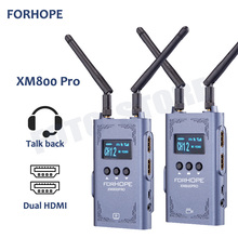 FORHOPE XM800 pro 800ft Wireless Transmission system with Audio Communication intercome dual HDMI for iPad tablet phone Camera