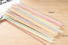 450 шт Разноцветные соломинки пластиковые длинные гибкие для