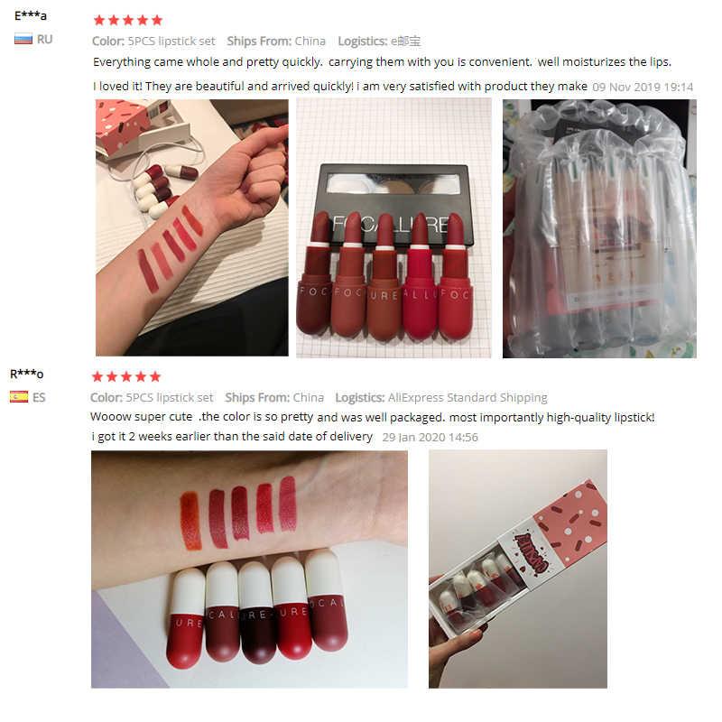 Focallure Merk 2019 Matte Lippenstift Waterproof Langdurige Vrouwen Nieuwe Make Up Lippen Sexy Rood Bruin Fluwelen Lipstick