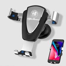 תמיכה אוניברסלי סוג על ניווט רכב רכב טלפון GPS ניווט סוגר עבור אלפא רומיאו Giulia Stelvio 159 147