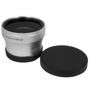 Image 1 - NEWYI High Resolution Camera Camcorder Lens 40.5mm 0.45X WIDE Angle + Macro Conversion LENS 40.5 0.45 Silver