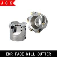 Cabeça de cortador de moinho de rosto emr emr para rpmt10t3 rpmt1204 rpmt fresa insert 50 63 80 100 160