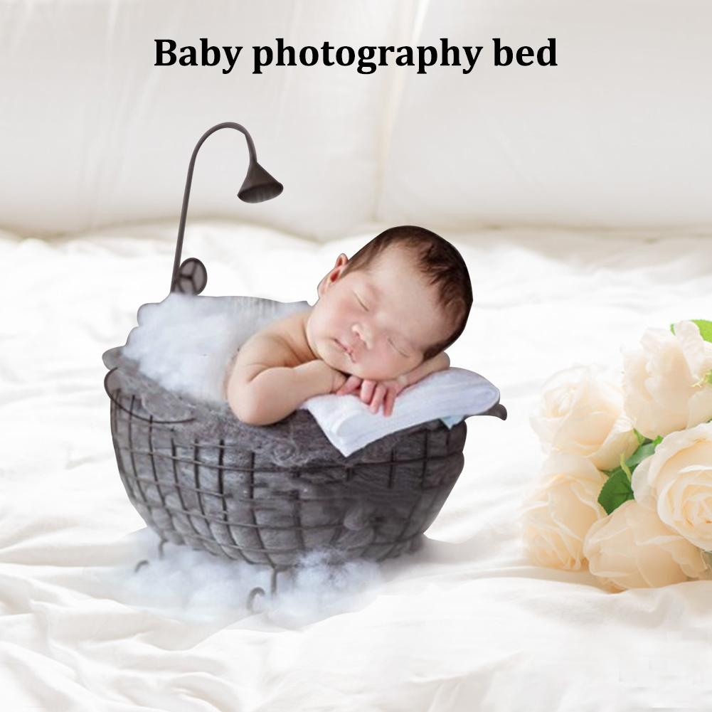 Newborn Baby Basket Photography Bed Month Bath Photography Furniture Small Bathtub Props Home Decoration Rack