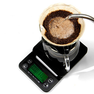 Image 3 - 5kg/0.1g Mini Digital Electronic Kitchen Scales Libra with Timer Barista Coffee Scale Table Cooking Food Scales for The Kitchen