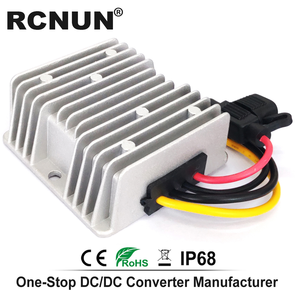 Image 4 - 36V 48V to 12V 13.8V 5A 10A 15A 20A 25A 30A Step Down DC DC Converter Golf Cart Voltage Reducer High Quality RCNUN CE RoHS-in Inverters & Converters from Home Improvement
