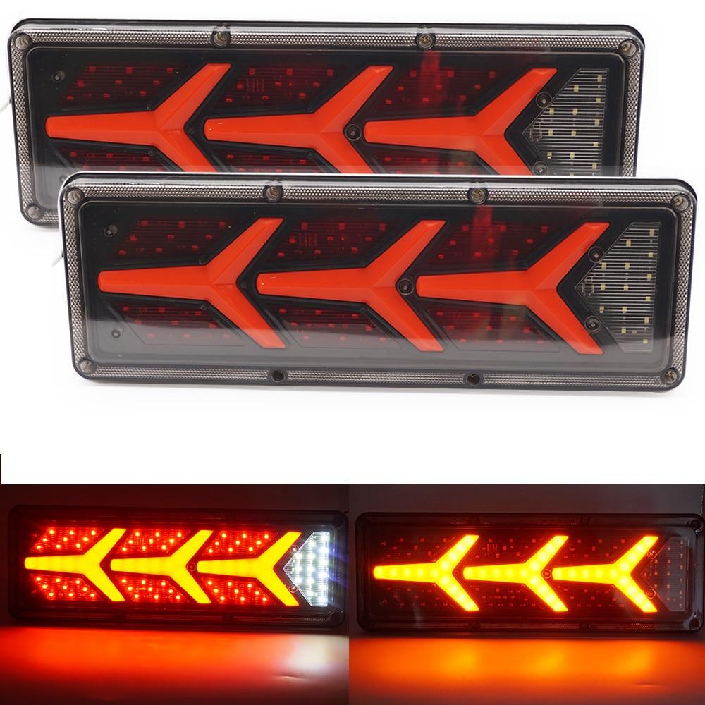 2 шт. 24 вольтовая светодиодная заднего светильник супер яркий поток рулевого Поворотная сигнальная лампа для грузового прицепа жилых автом...