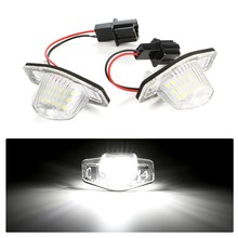 2Pcs Car LED License Plate Light For Honda Jazz Odyssey CRV FRV HR V Crosstour 5D DXY No Error 18 LED Trunk Tail Lamp Auto Light
