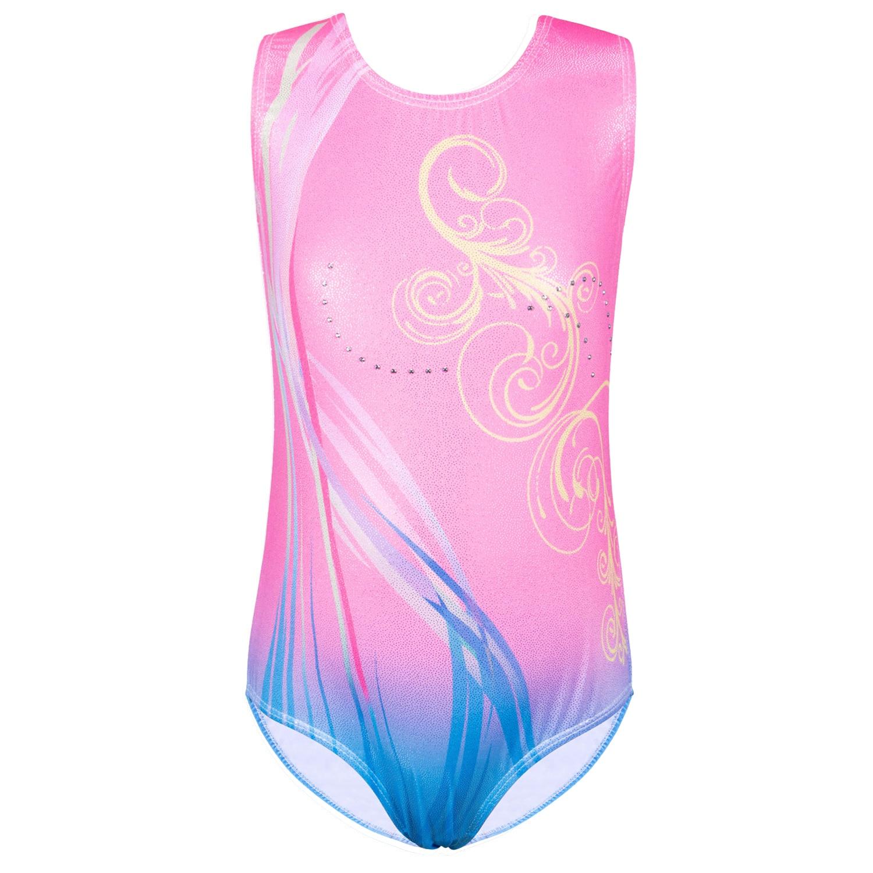 BAOHULU 3-12Y Kids Girls Leotards For Gymnastics Sleeveless Novelty Ballet Dance Bodysuits Tank Teens Athletes Skating Leotard