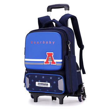 Removable Children School Bags with 2/6 Wheels for Girls boys Trolley Backpack Kids Wheeled Bag Book bag travel luggage Mochila