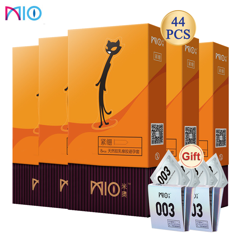 MIO Close Fit Condom Contraception Small Size 49mm Tight Delay Lubricating Natural Rubber Latex Penis Sleeve Intimate Goods Sex