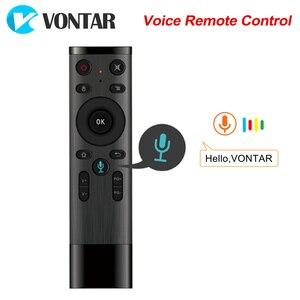 Image 1 - Q5 Control remoto por voz Fly Air Mouse 2,4 GHz, micrófono inalámbrico de Google, mando a distancia con giroscopio para Android TV Box T9/X96 mini