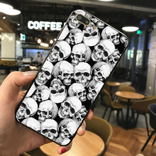 Case For iPhone 8 X 6S 7 Plus XR XS max Skull print Black silicone cases custom phone case for Samsung galaxy s10 S7 S9 S8 PLUS phone camera lens 9 in 1 phone lens kit for iphone x xs max 8 7 plus samsung s10 s10e s9 s8
