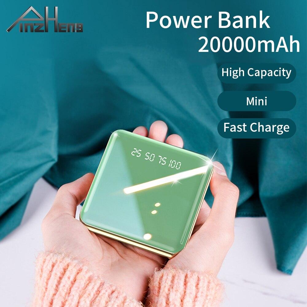 PINZHENG 20000mAh Mini batterie dalimentation pour Xiaomi iPhone Portable chargeur USB Powerbank batterie externe charge rapide USB Powerbank