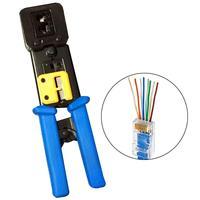 Wire Cord Crimper Plier RJ45/ RJ12/RJ22 Terminal Crimp Tool Regular End Pass Through Connectors Press Pliers|Pliers|   -