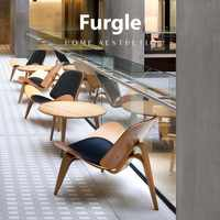 Furgle 7 Days Delivery Replica Shell Chair Mid Century Dining Chair with Polywood Lounge Chair Ash/Walnut/Palisander Side Chairs