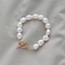 Женские жемчужные браслеты барокко leouerry роскошные французские