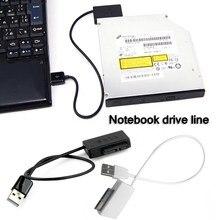 Портативный USB 2,0 для Mini SATA 6P + 7P Интерфейс адаптер конвертер кабель для ноутбука CD/DVD ROM Slimline Drive