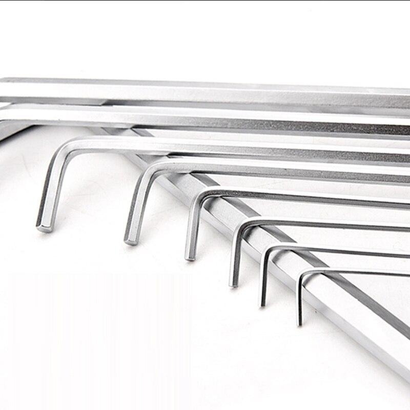 Set 7pcs Mini Hexagone Hex Allen Clé Wrench Impérial Hexagonale 0.7-3mm Inox