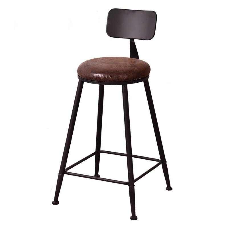 Iron High Stool Cafe Tea Shop Bar Bar Stool Retro Industrial Style Coffee Shop Home Leisure Chair