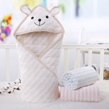 Baby Be Hold Autumn Newborn Coated Pure Cotton Cover Cartoon Lovely Leggings Package Cloth Blanket