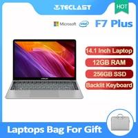 Portátiles de 14,1 pulgadas Teclast F7 Plus portátil Windows 10 1920x1080 Intel lago Géminis N4100 Quad Core 1,1 GHz 12GB de RAM 256GB SSD