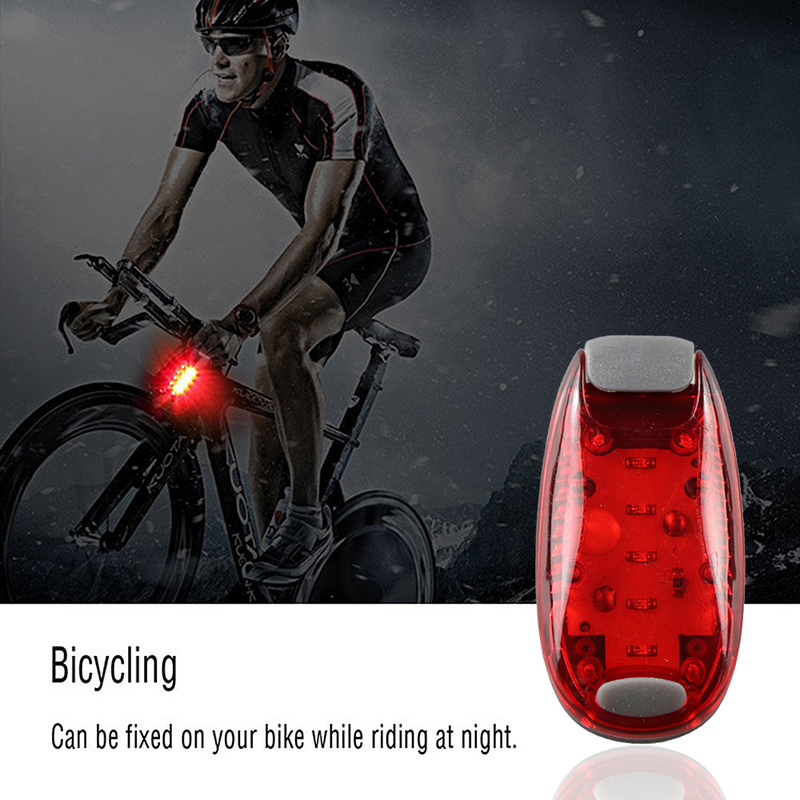Multifunctional Bicycle Taillight Outdoor Riding 5LED Backpack Light Warning Light Helmet Light For Cycling Other Outdoor Sports