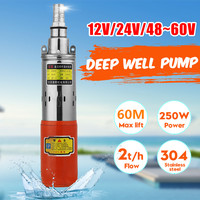 12V/24V/48V High Lift 60m Solar Submersible Water Pump High Pressure DC Pump Deep Well Pump Agricultural Irrigation Garden Home