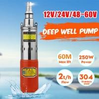 12V/24V/48V High Lift 60m Solar Submersible Water Pump High Pressure DC Pump Deep Well Pump Agricultural Irrigation Garden Home