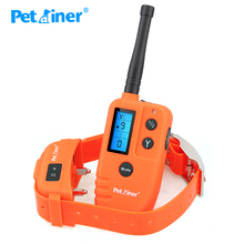 Petrainer 910T 500M מרחוק כלב אימון צווארון עמיד למים ונטענים קולר הלם כלב אימון & ציד