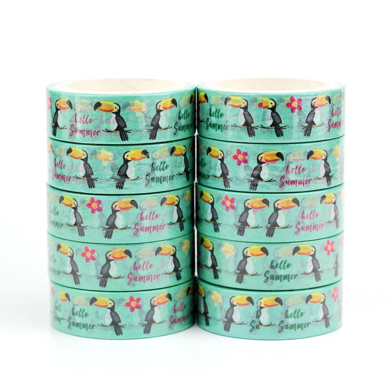 Birds And Flowers Summer Washi Tapes Japanese Paper Kawaii Scrapbooking Tools Masking Tape Christmas Photo Album Diy Stationery