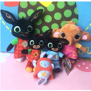 Bing coelho de pelúcia crianças meninas brinquedo recheado panda coco hoppity animação brinquedos sula elefante boneca para crianças presentes dos meninos
