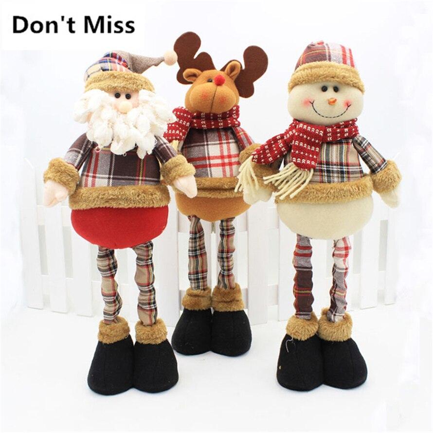 47cm papai noel decorações de natal boneca natal decoração de mesa decorações de natal para decoração de casa navidad enfeite de natal