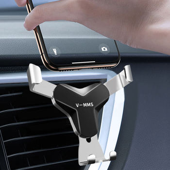 Car Phone Holder Air Vent Mount Stand For Tesla MINI AlfaRomeo Ssangyong Mobile Phone For Smartphone Gravity Auto Clip Universal image
