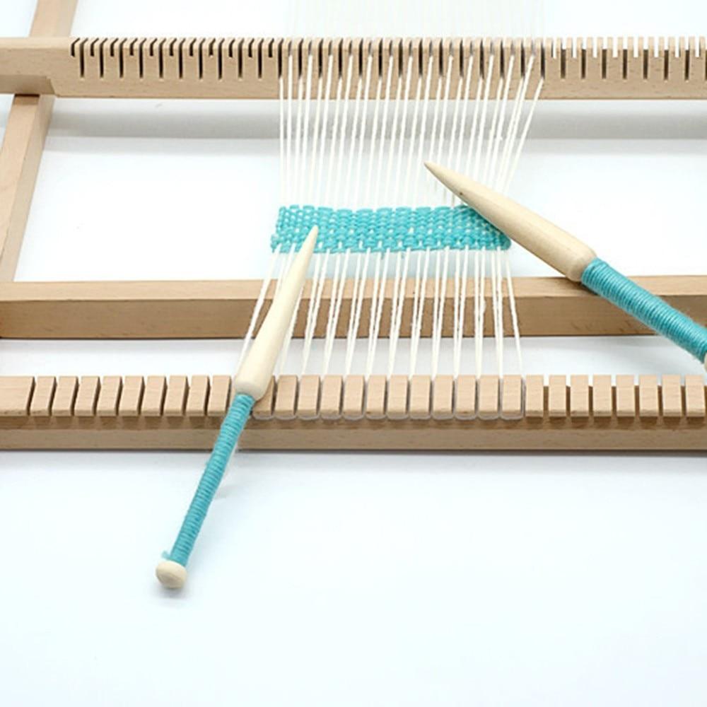 Diy Weaving Tool Woven Sweater Scarf Tapestry Stick Single Head Solid Eucalyptus Wool Short Rod  DIY Loom Tools