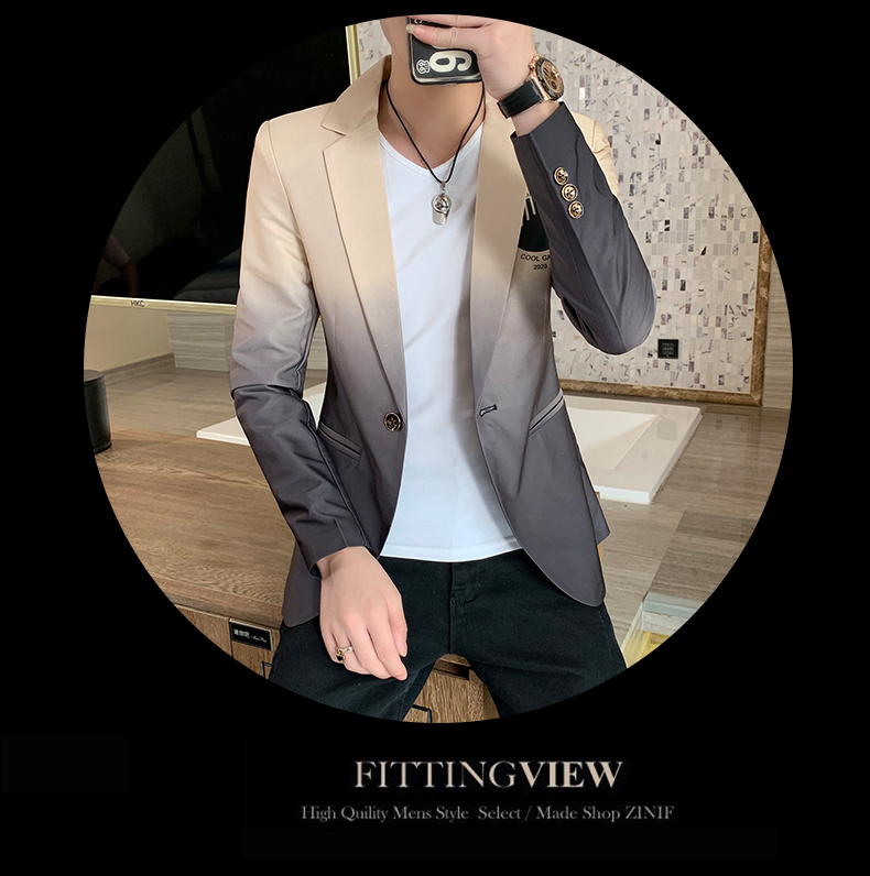 H6f836163798747dc93c52723ddd71daeT - Male Gradient Blazer Masculino 2020 Spring Autumn Korean Style Blazer For Men Suit Jacket Casual Wedding Business Clothing