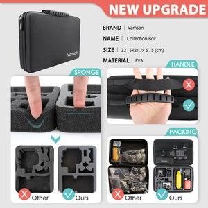 Image 4 - Vamson para gopro acessórios conjunto para go pro herói 9 8 7 6 5 4 kit 3 vias selfie vara para eken h8r/para yi eva caso vs77