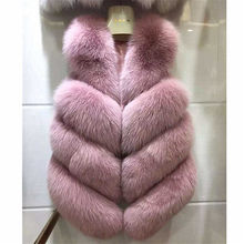 High quality Fur Vest coat Luxury Faux Fox Warm Women Coat Vests Winter Fashion furs Women's Coats Jacket Gilet Veste 3XL(China)