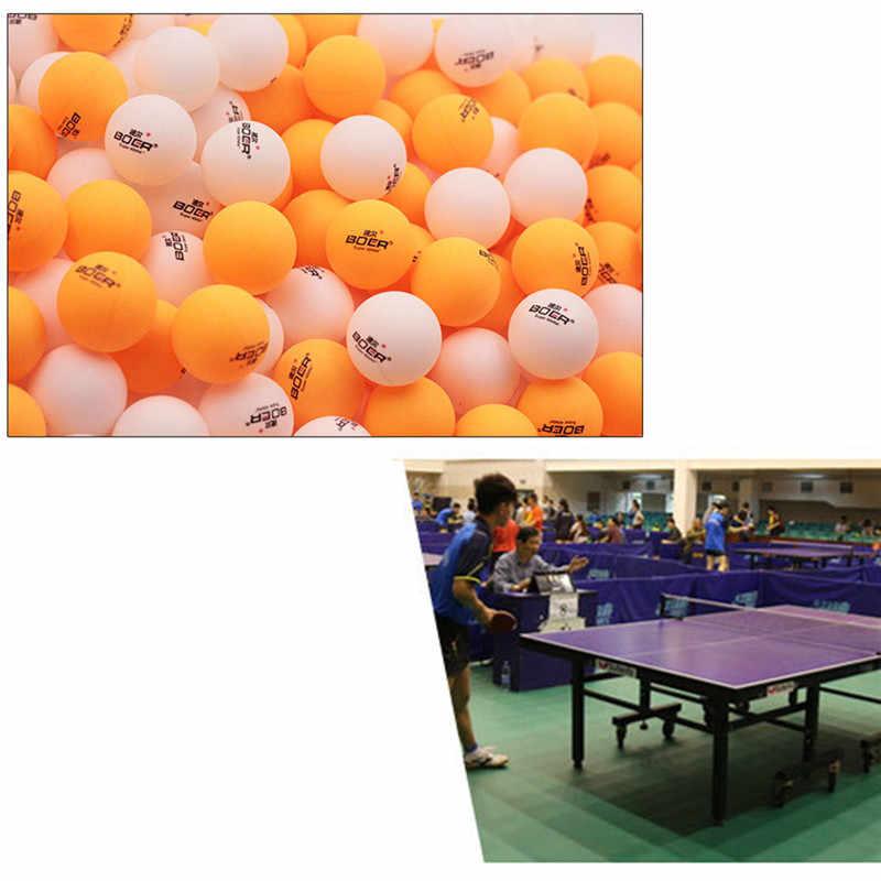 3 piezas conjunto de pelotas de tenis de mesa BOER profesional 40mm blanco amarillo Ping-Pong con caja de venta al por menor de Ping-Pong bolas de ocio