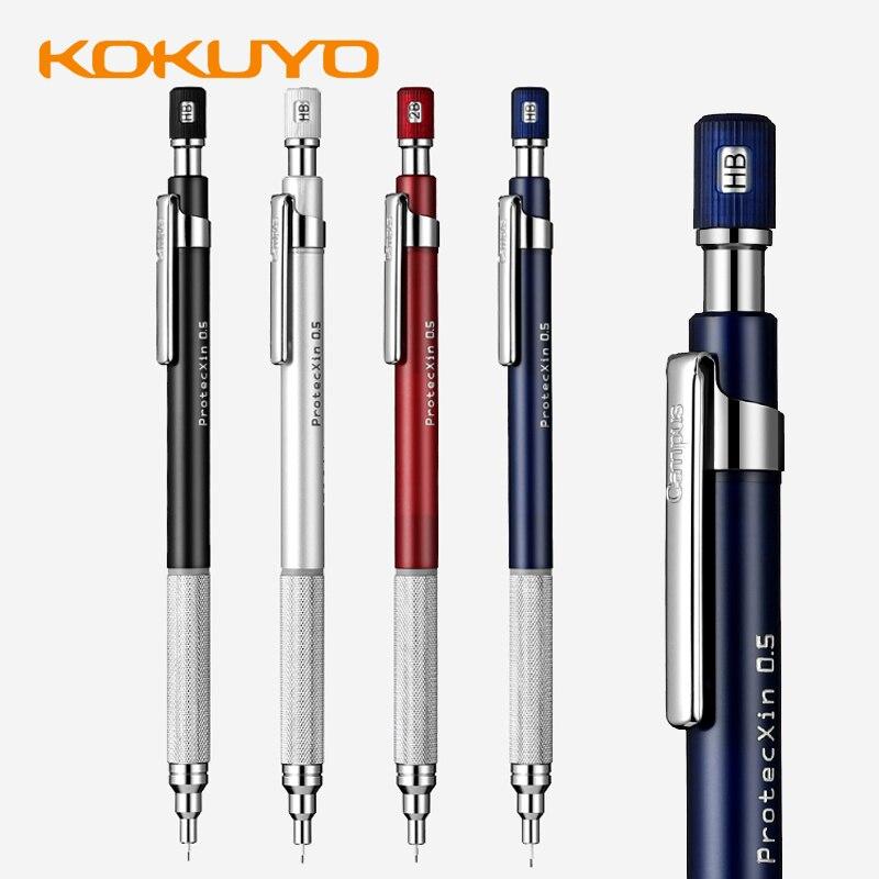 1 pçs kokuyo protecxin WSG-PS305 núcleo série de metal não-deslizamento caneta titular lápis automático estudante desenho com baixo centro de gravit