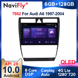 6+128G Android 10.0 DSP CarPlay Car Radio Multimedia Video Player Auto Stereo GPS For Audi A6 C5 1997-2004 S6 RS6 2 din dvd BT
