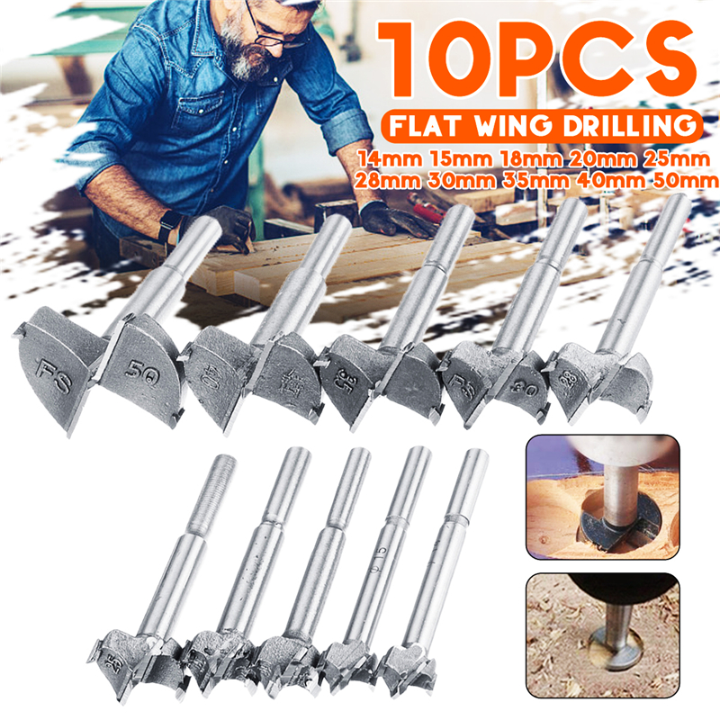 Auger Drill Bits Self Centering Hole Saw Cutter Woodworking Tools Diameter 14/15/18/20/25/28/30/35/40/50mm Forstner Drill Bits